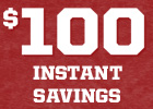$100 Instant Savings on Big O Brand Tires!