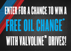 Enter for a chance to win a Free Oil change!