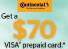 Continental - Get a $70 Visa® Prepaid Card!