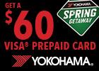 Yokohama $60 Visa Prepaid Card!