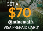 Get a $70 Visa Prepaid Card on Continental Tires!