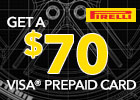 Pirelli $70 Visa® Winter Rebate!