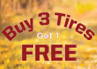 Buy 3 Get 1 Free on a Set of 4 Select Tires With Paid Installation Purchase