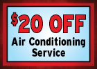 $20 Off Air Conditioning Service!