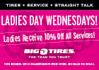 Ladies Day - 10% Savings on Select Services for Women every Wednesday!