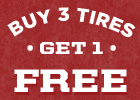 Buy 3 Tires, Get 1 Tire FREE with installation purchase