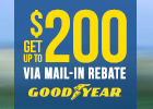 Goodyear - Get up to $200 Visa Prepaid Card!