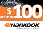 Hankook – Get up to $100 Mail-in Rebate!
