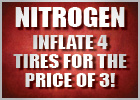 Nitrogen - Inflate 4 Tires for the Price of 3 ($18.00)