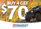 BFGoodrich - Get $70 via MasterCard® Reward Card