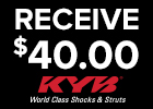 $40 For 4 KYB Shocks and Struts!