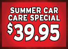 $39.95 Fall Car Care Special