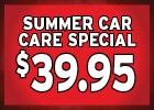 $39.95 Spring Healthy Car Special