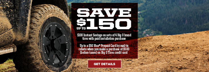 Regional - Save up to $150 on Big O Brand