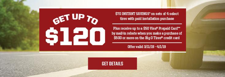 Regional - Get up to $120