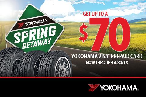 Yokohama   Get up to $70 Mail in Rebate!